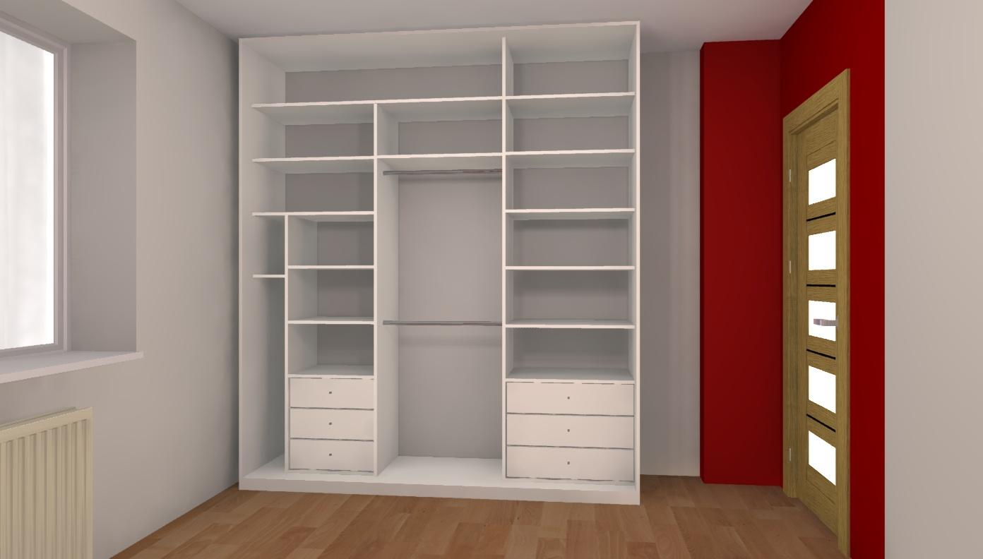 Szaf Wnękowych Projektmeblipl Projekty Kuchni łazienek 3d