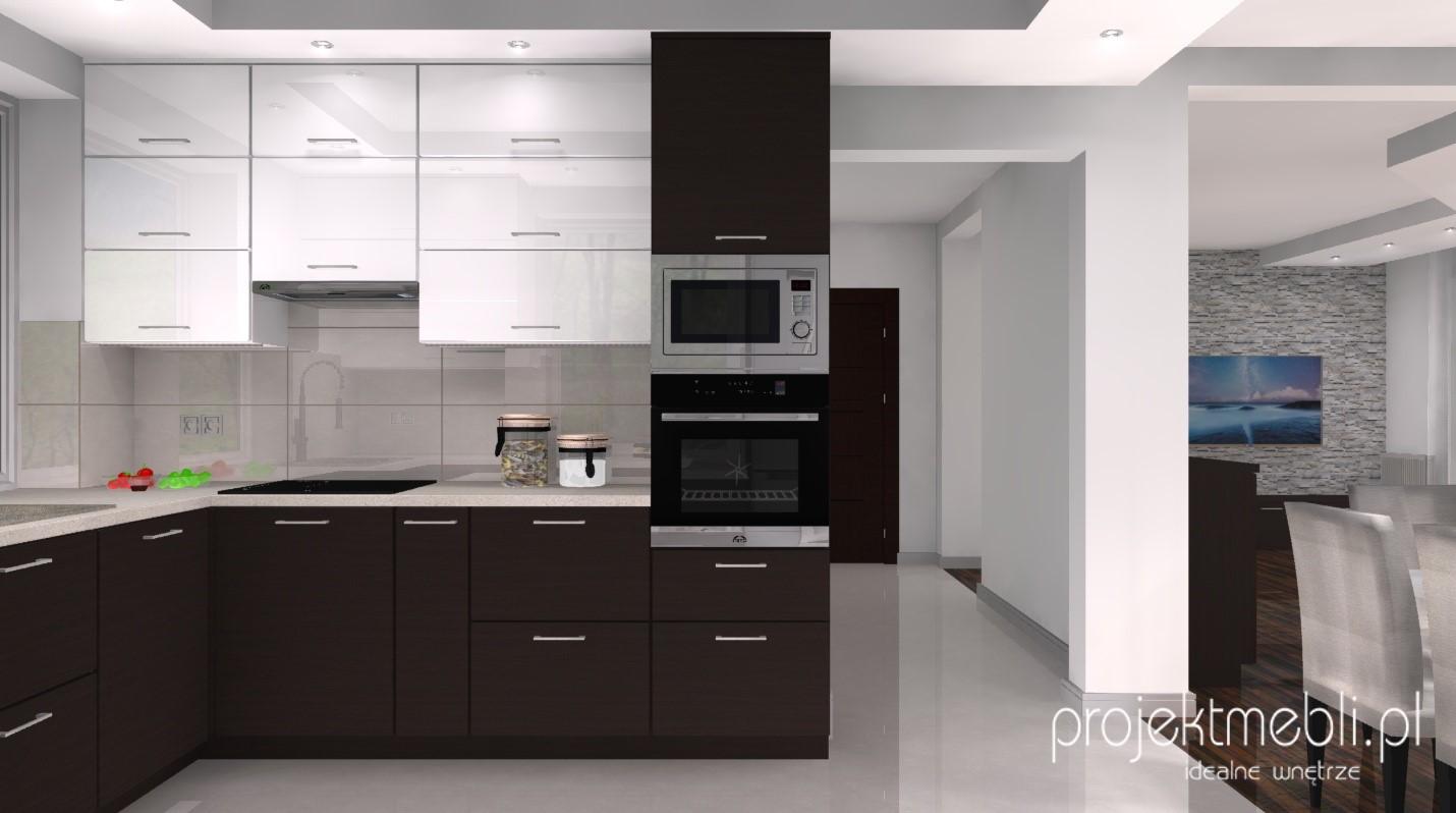 Kuchennych projekty kuchni azienek 3d for Projekty kuchni z salonem