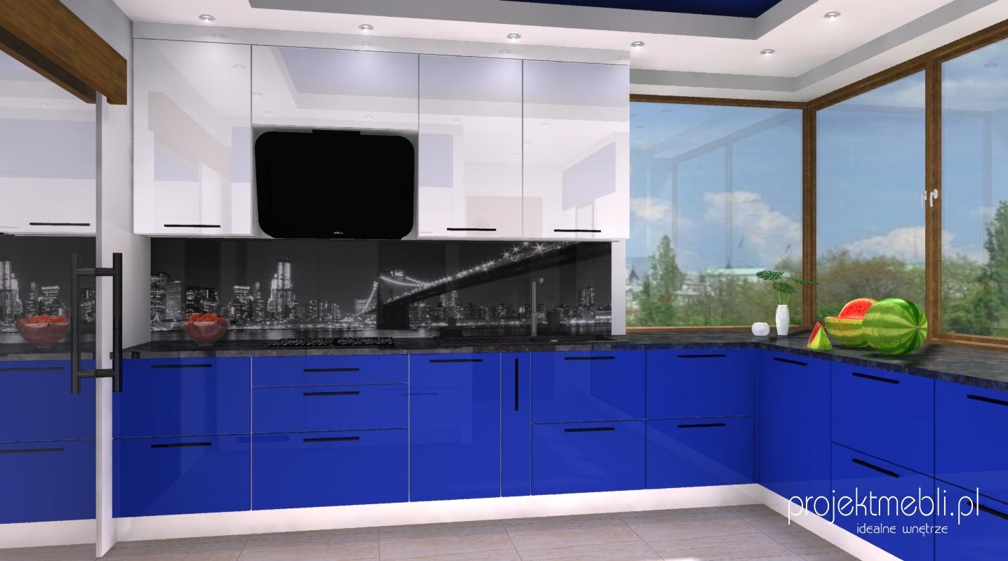 Niebieskie Kuchenne Piekno Poznan Projektmebli Pl Projekty